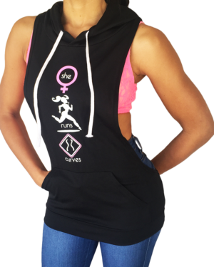 Do You Run Curves? Onyx Jersey Hoodie